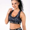 SPORTS BRA BLACK MARBLE GREAT I AM - Great I Am