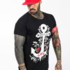 CASUAL TEE ANCHOR AND ROSES BLACK GREAT I AM - Great I Am
