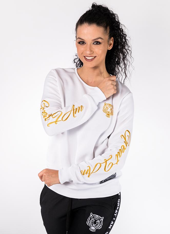 FLEECE SWEATER GOLDEN WHITE GREAT I AM - Great I Am