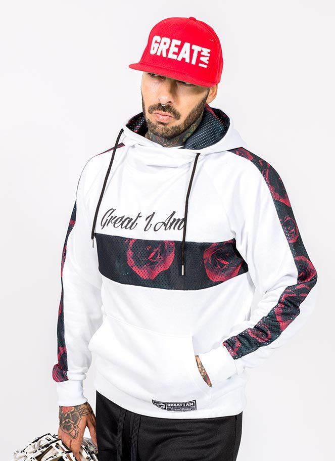 HOODIE WHITE ASPIRE GREATNESS GREAT I AM - Great I Am