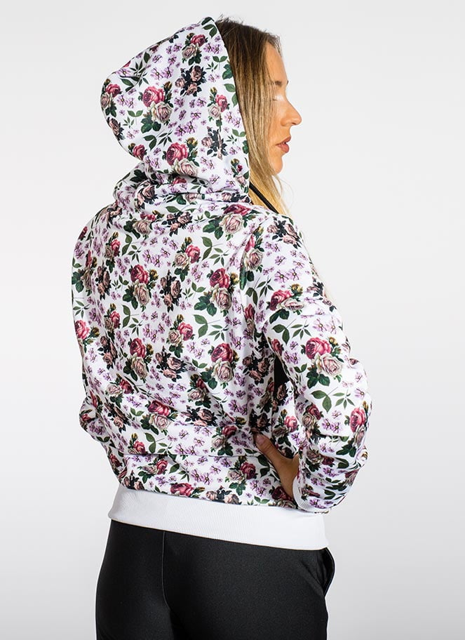 HOODIE PINK FLOWERS GREAT I AM - Great I Am