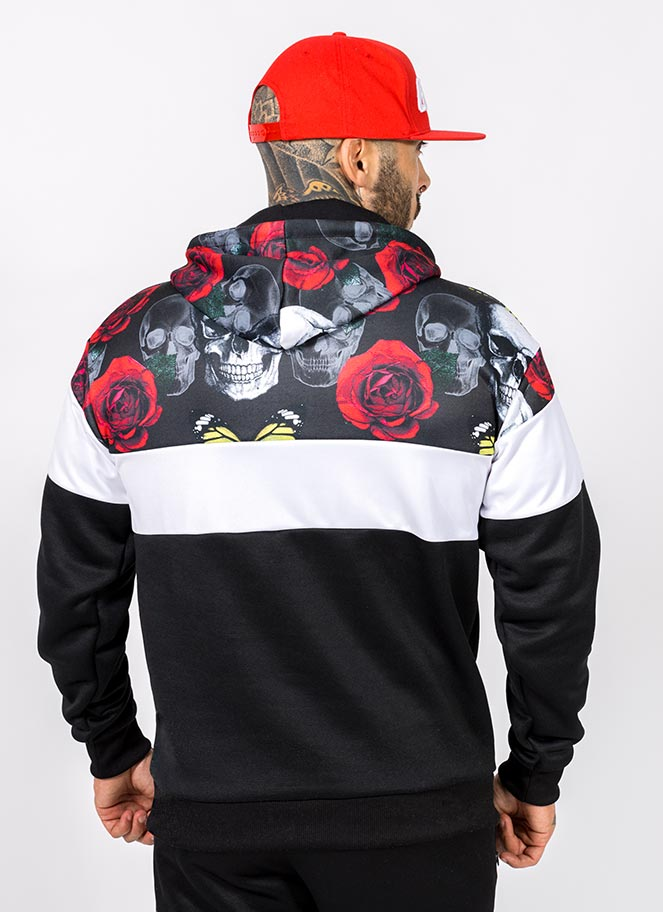 HOODIE ROSES AND SKULLS GREAT I AM - Great I Am