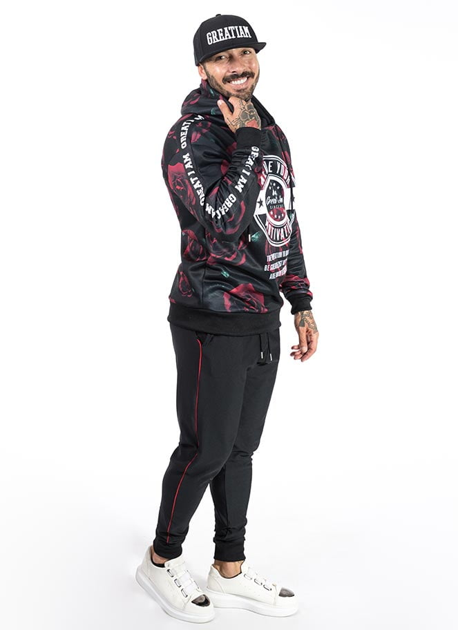 HOODIE WE ARE MOTIVATION ROSES GREAT I AM