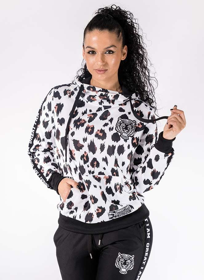 HOODIE WHITE LEOPARD GREAT I AM - Great I Am