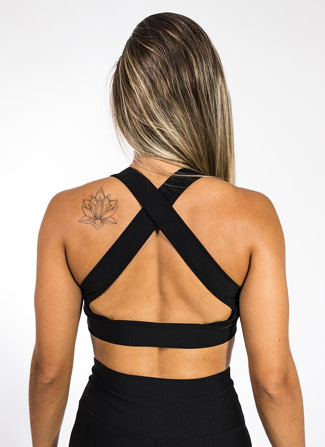 SPORTS BRA ACTIVE BLACK GREAT I AM - Great I Am