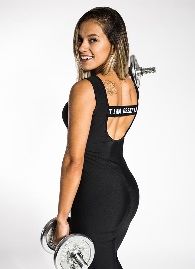 JUMPSUIT ACTIVE BLACK - Great I Am
