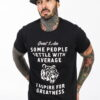T-SHIRT ASPIRE GREATNESS BLACK