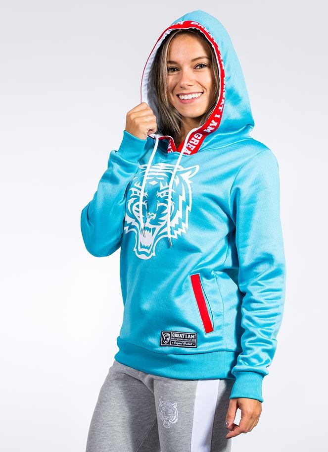 hoodie cyan