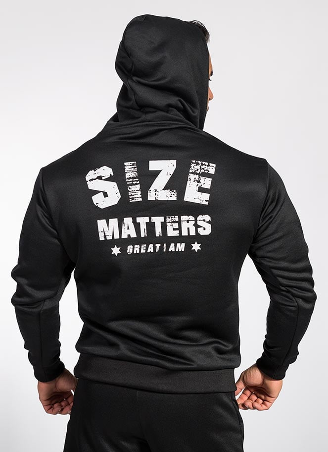 HOODIE WOLF SIZE MATTERS - Great I Am