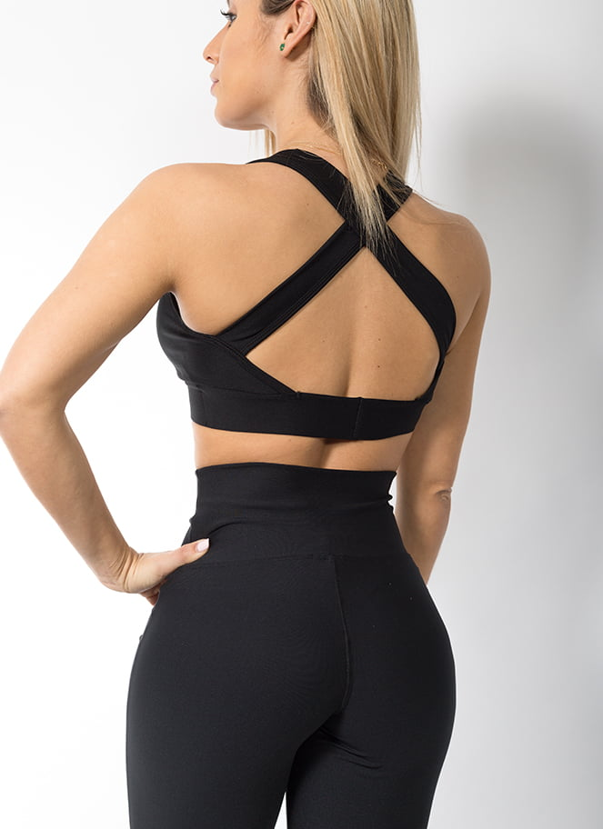 LEGGING HIGH WAIST FLARE BLACK - Great I Am