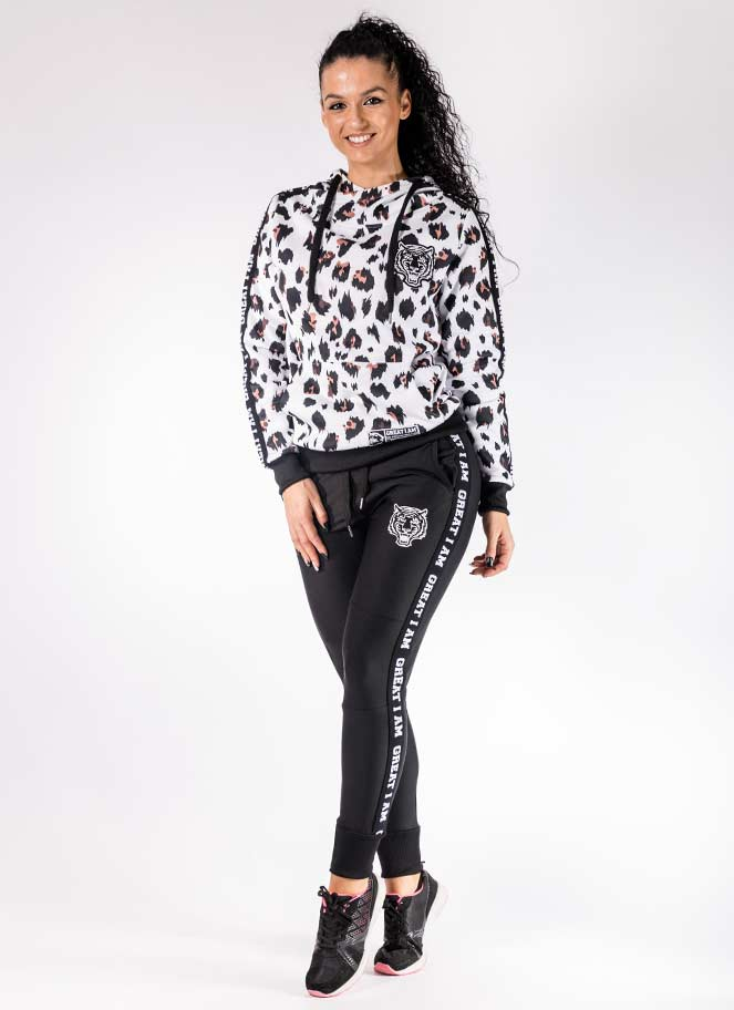 OUTFIT HOODIE WHITE LEOPARD - Great I Am