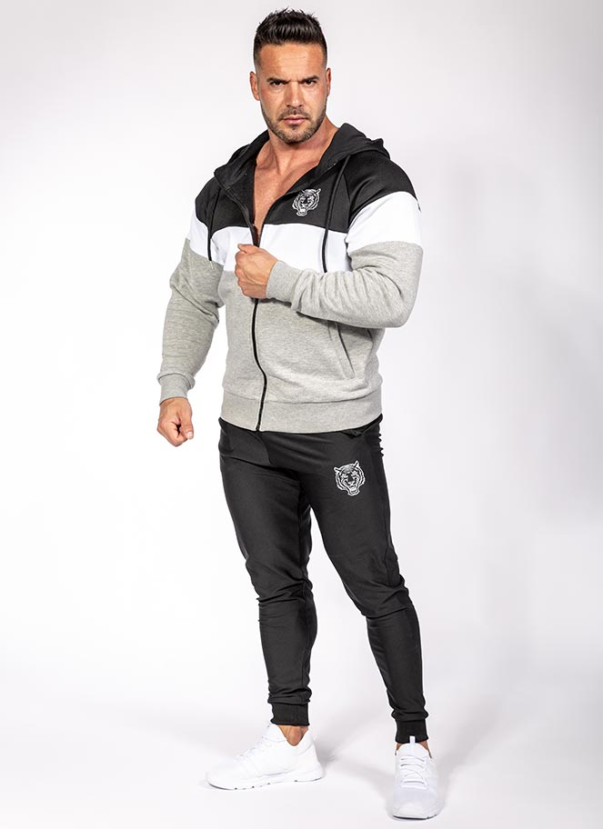 TRACKSUIT SILVER BLACK - Great I Am