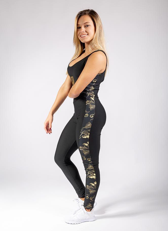 JUMPSUIT FLORAL GOLD - Great I Am
