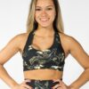 SPORTS BRA FLORAL GOLD - Great I Am