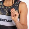 TANKTOP FLORAL GOLD - Great I Am