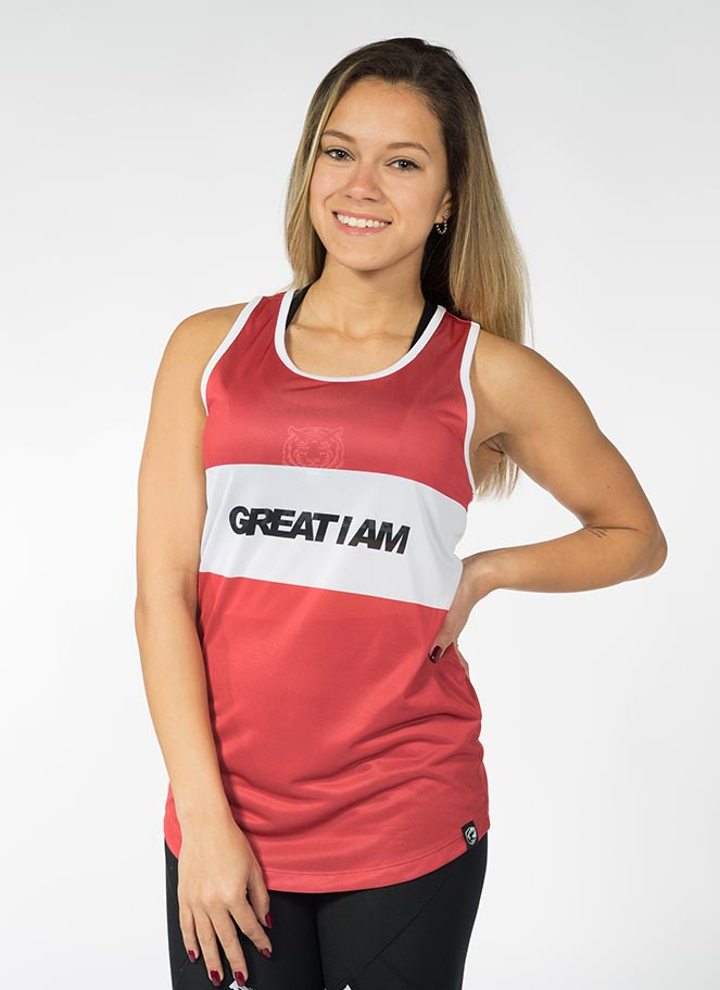 TANKTOP GIA RED - Great I Am
