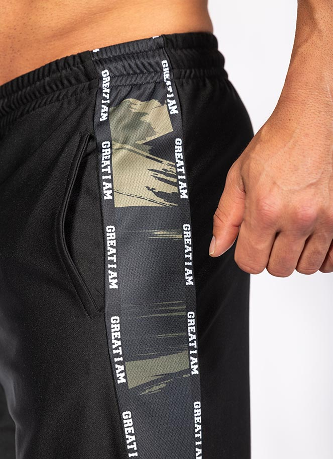 WORKOUT SHORTS BLACK CAMO - Great I Am