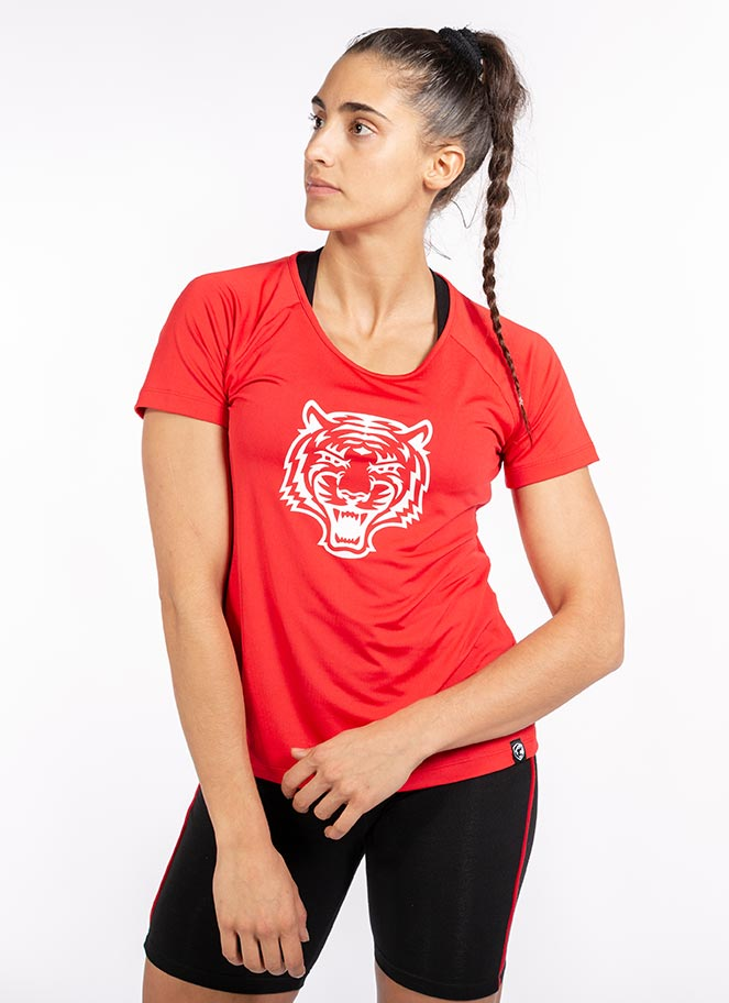 WORKOUT T-SHIRT LOGO RED - Great I Am