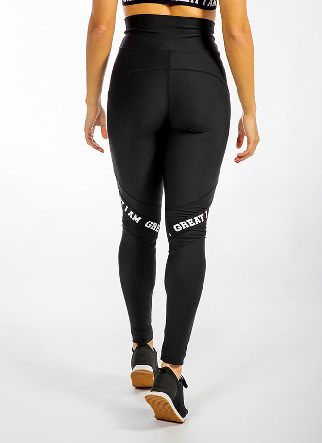 LEGGING HIGH WAIST GIA BLACK - Great I Am