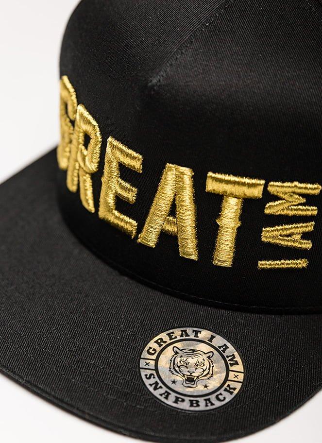 SNAPBACK GREAT I AM GOLD ON BLACK - Great I Am