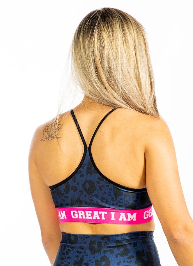 SPORTS BRA BLUE LEOPARD - Great I Am