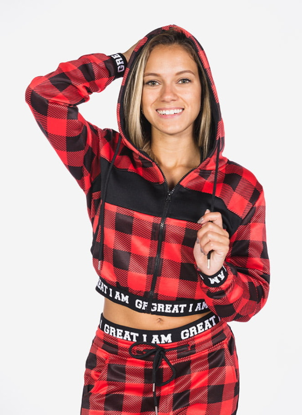 CASACO CROPPED RED CHESS - Great I Am