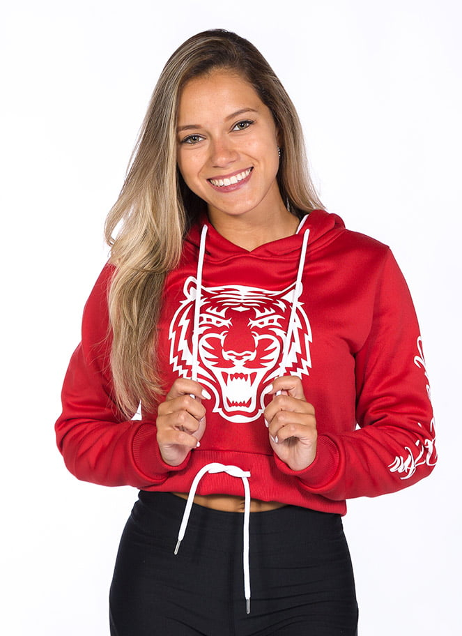 CAMISOLA COM CAPUZ CROPPED TIGER RED - Great I Am