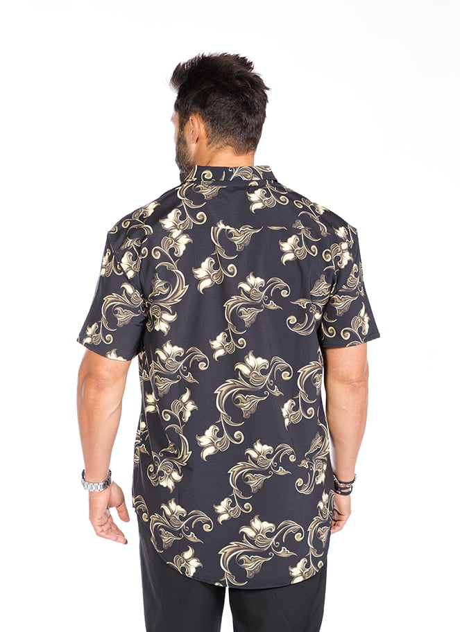 CAMISA FLORAL GOLD - Great I Am