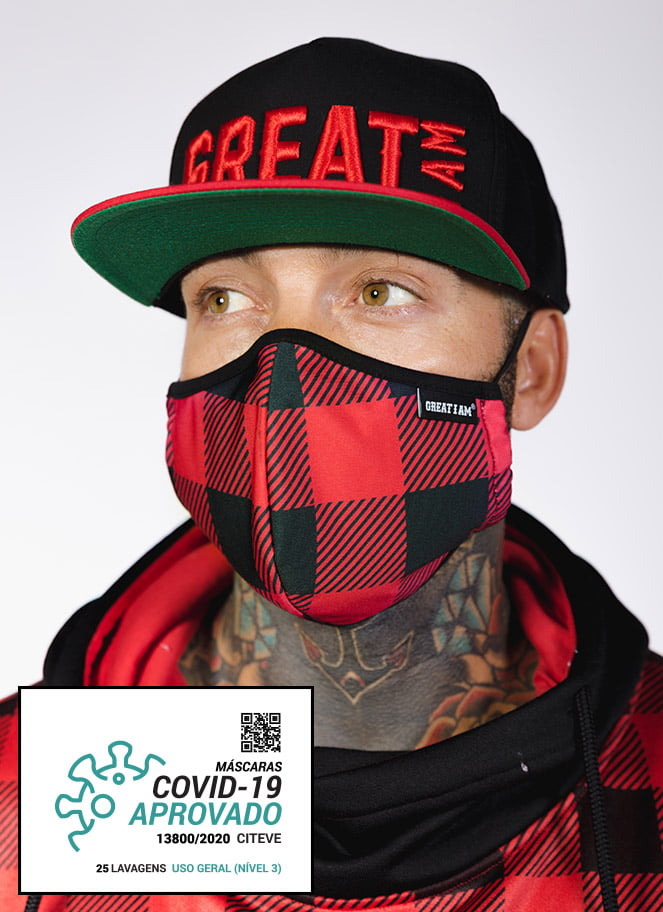 MASK UNISEX RED CHESS - Great I Am