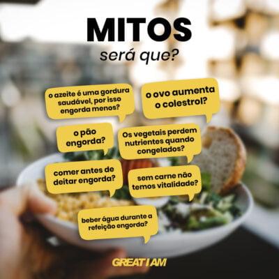 mitos sobre alimentação
