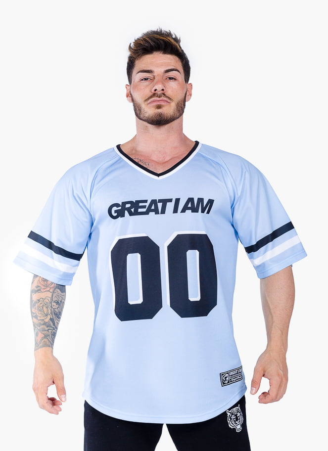 AMERICAN JERSEY STRONG 00 CYAN - Great I Am