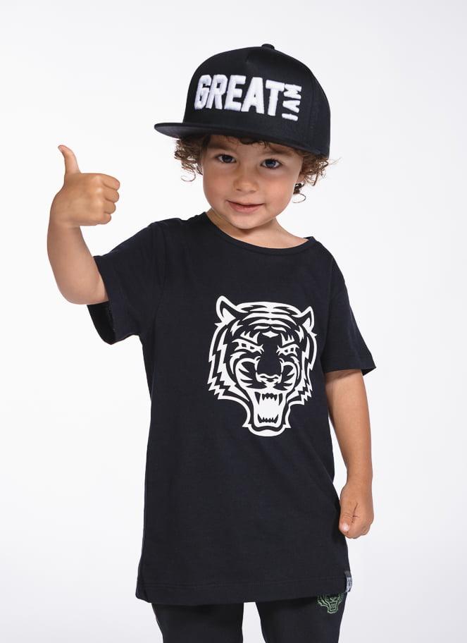 T-SHIRT LOGO BLACK KID - Great I Am