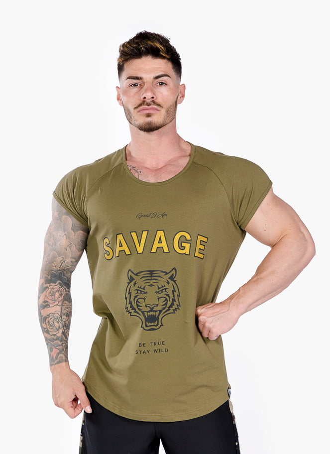 T-SHIRT DE TREINO ARMY SAVAGE - Great I Am
