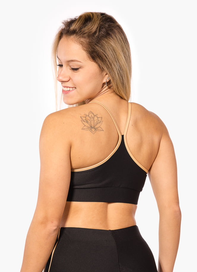 SPORTS BRA BASIC CUT BLACK - Great I Am