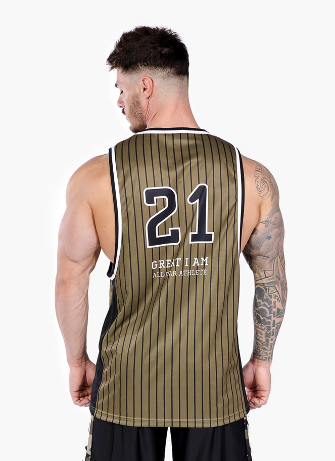 BASKETBALL JERSEY ALL-STAR ATHLETE ARMY - Great I Am