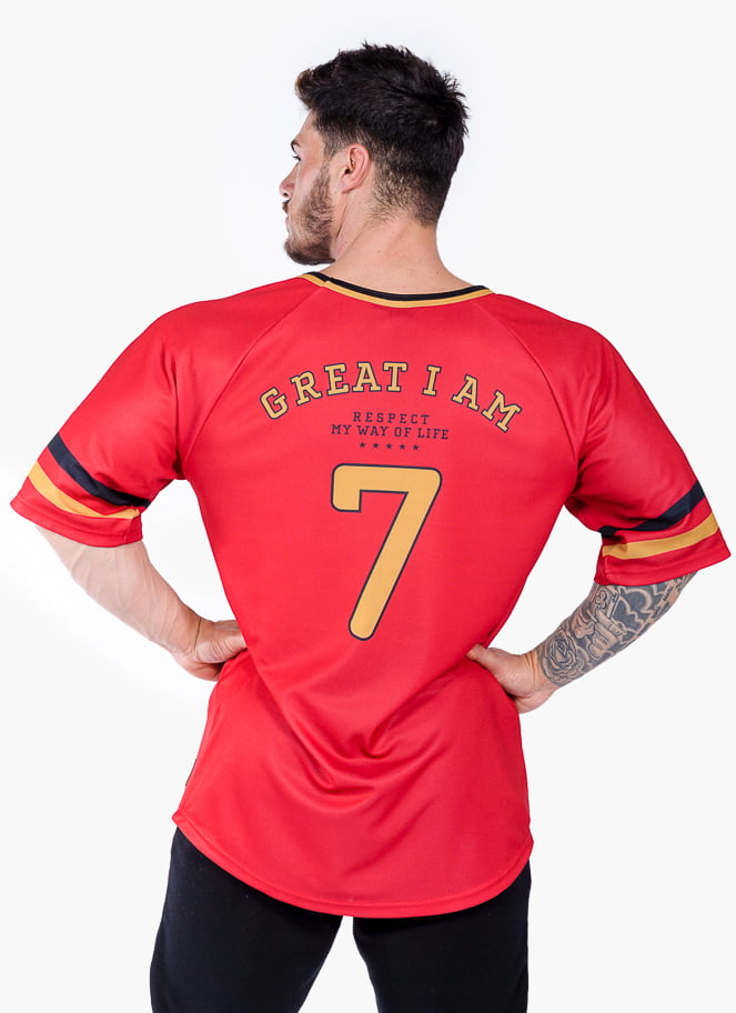 AMERICAN JERSEY RESPECT 7 RED - Great I Am