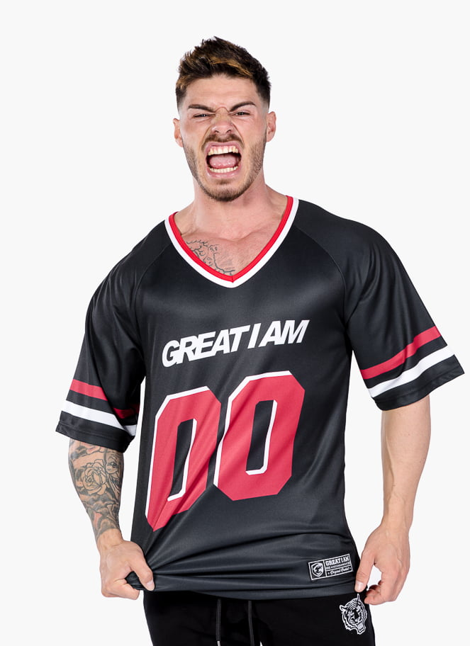 AMERICAN JERSEY STRONG 00 BLACK - Great I Am