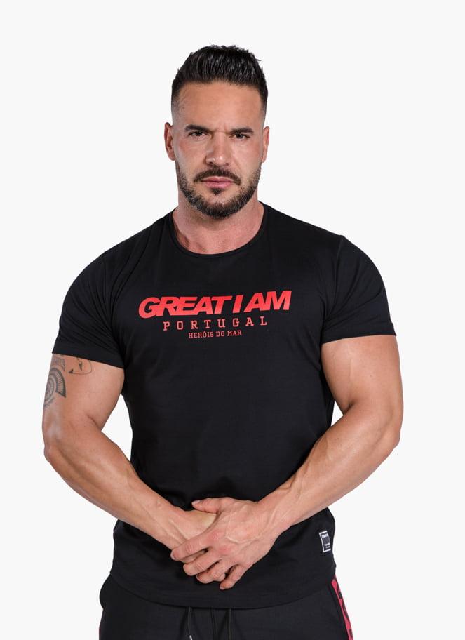 T-SHIRT PORTUGAL BLACK - Great I Am