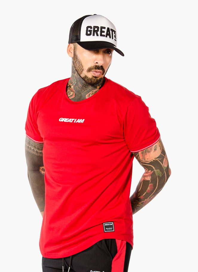 T-SHIRT CASUAL RED - Great I Am
