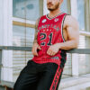 BASKETBALL JERSEY ALL-STAR ATHLETE RED - Great I Am