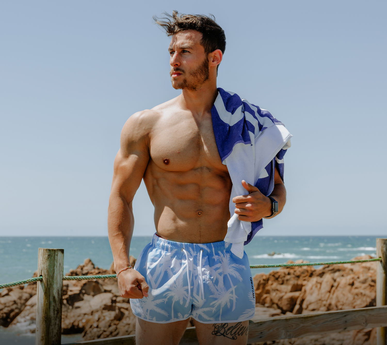 calções de praia